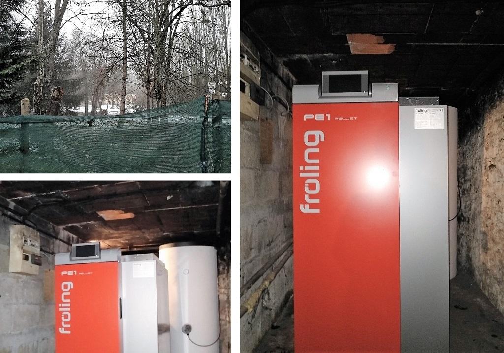 Pose d'une chaudière à granulés à Poigny la Forêt Yvelines (78)-Yvelines (78)