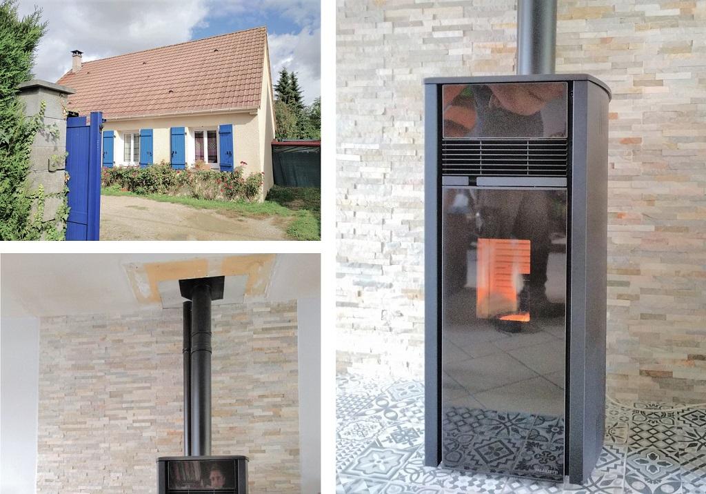 Installation d'un poêle à granulés à les pinthières (28)-Eure et Loir (28)