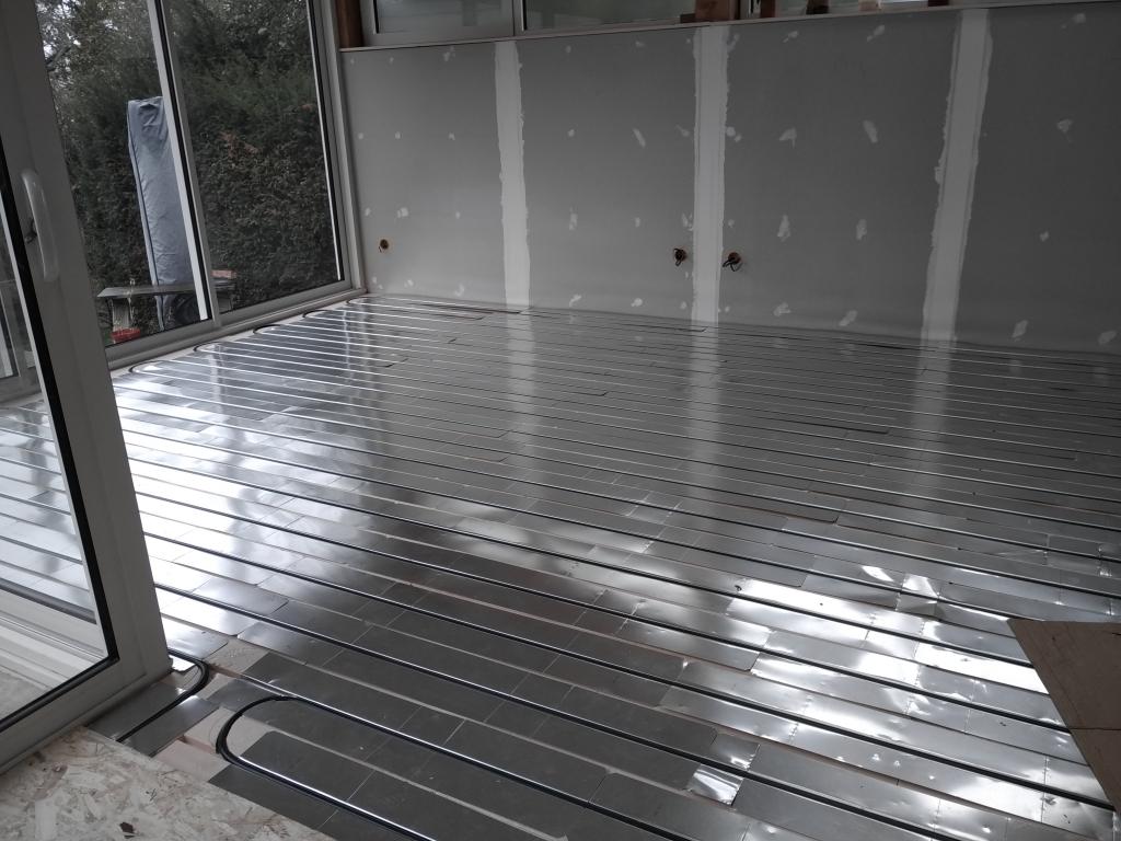 Pose d'un plancher chauffant à RAMBOUILLET