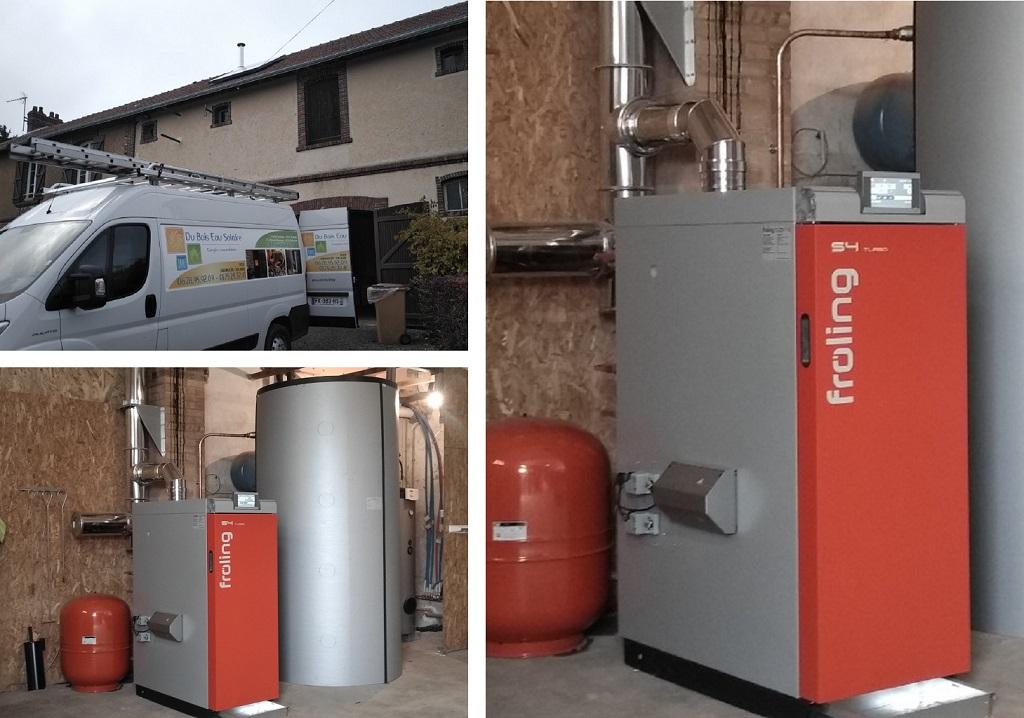 Installation du'une chaudière à granulés biomasse bois dans le 28