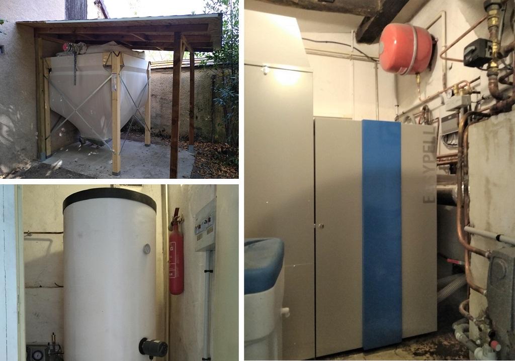 Installation du'une chaudière à granulés biomasse bois ESYPELL