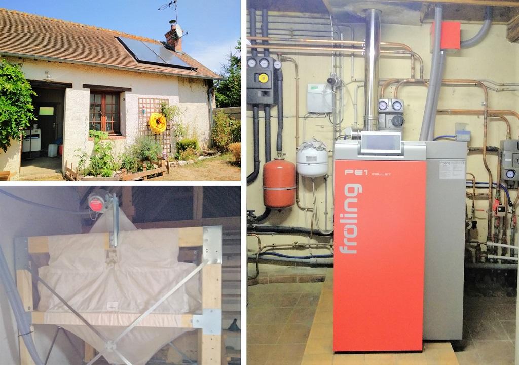 Installation d'une chaudière à granulés à JUMELLES (28)-Eure (27)