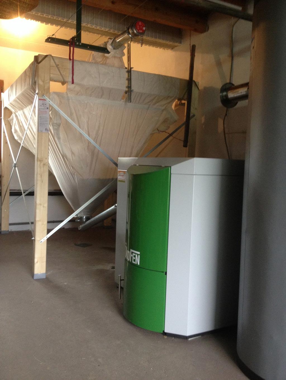 Installateur Piwienergies quali bois RGE - Installation d'une chaudière à granules de bois à Yenne - 73 Savoie