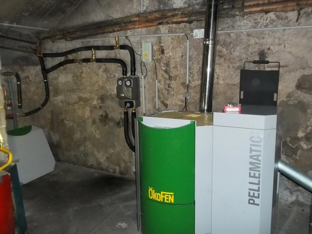 Installation d'une chaudière à granulés (pellet)  OKOFEN-Bouches du Rhône (13)