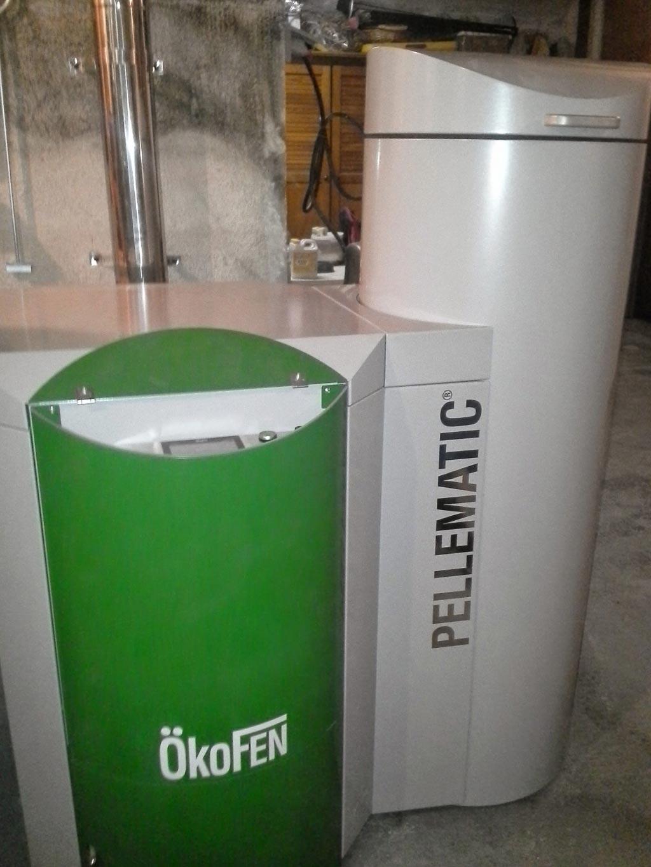 Installation d'une chaudière à granulés (pellets) de la marque OKOFEN-Bouches du Rhône (13)