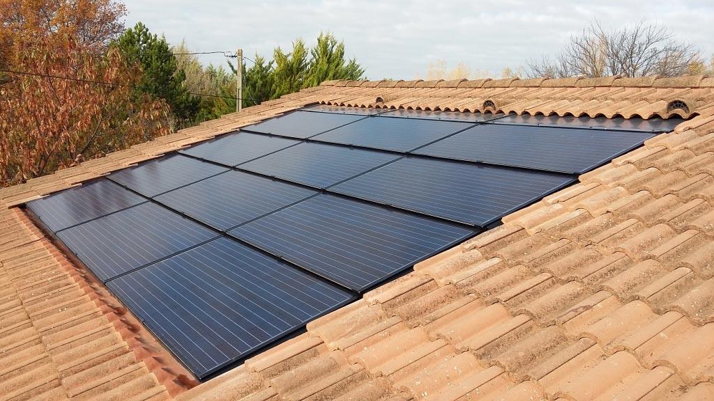Réparation sinistre électrique sur toiture équipée de panneaux solaires photovoltaïque