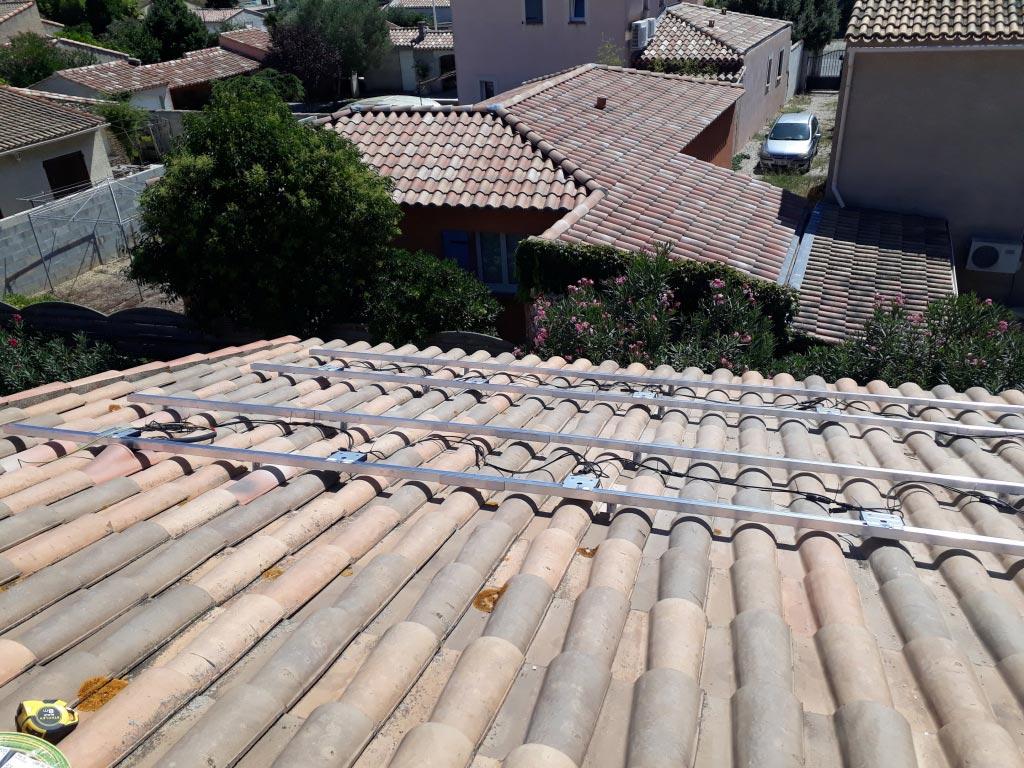 Réalisation d'une installation photovoltaïque 3 kwc en autoconsommation et vente du surplus avec gestion de l'excédent de production sur ballon ECS électrique-Bouches du Rhône (13)