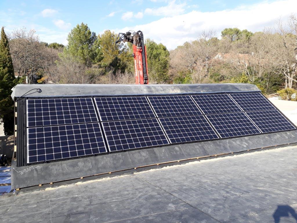 Réalisation de 3 installations photovoltaïque total 9 kwc sur maisons neuves en vente totale-Bouches du Rhône (13)