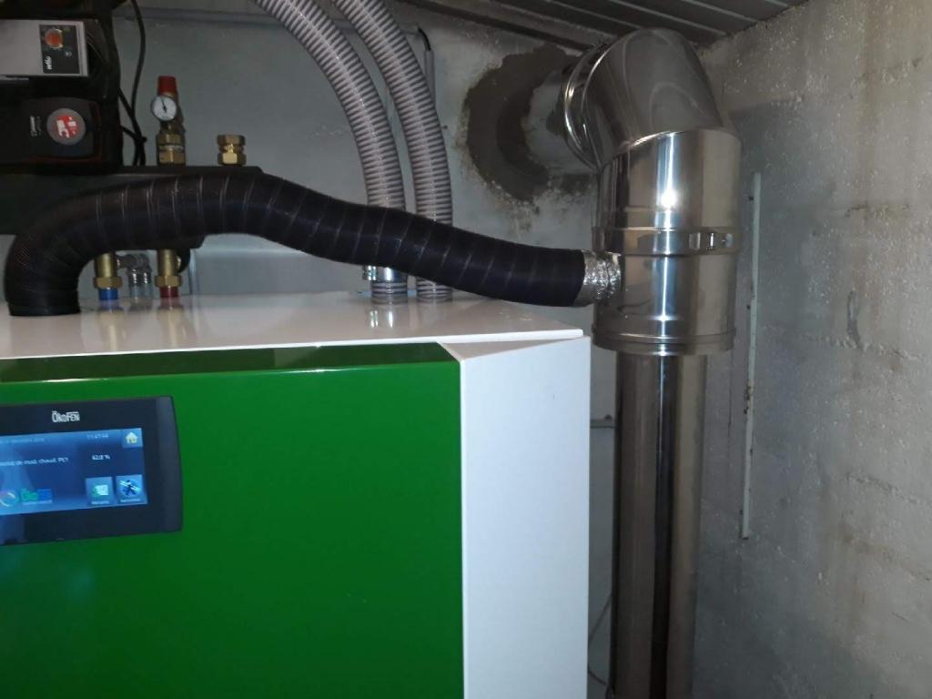 installation d'un chaudière à granulés (pellets) COMPACT OKOFEN