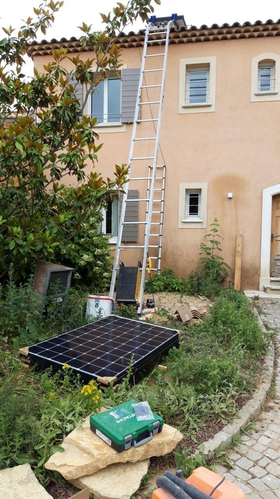 Réfection d'une installations photovoltaïque 2.7kwc défaillante-Bouches du Rhône (13)