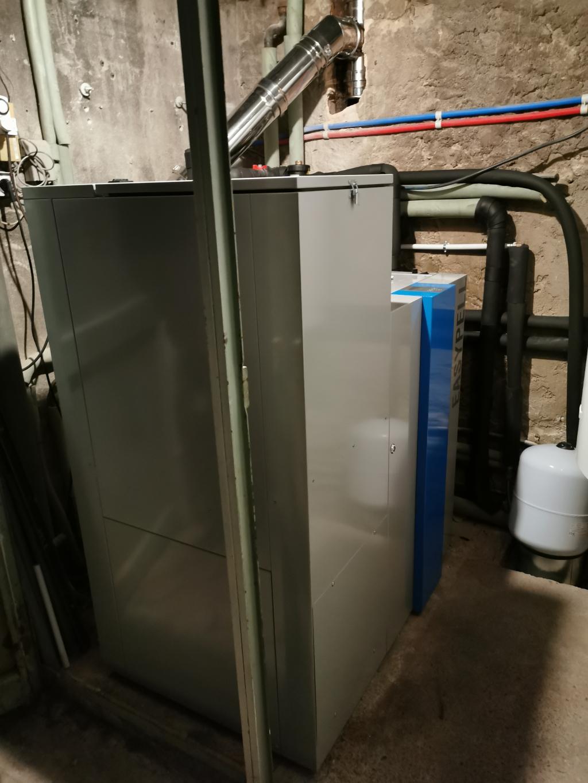 Installation d'une chaudière granulés OKOFEN en remplacement d'une chaudière fuel et pompe à chaleur air/air