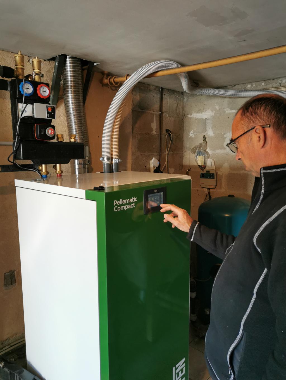 Installation d'une chaudière granulés OKOFEN en remplacement d'une chaudière gaz propane-Bouches du Rhône (13)