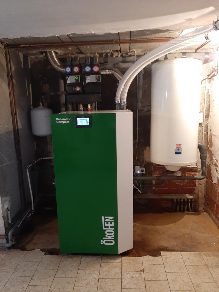 Installation d'une chaudière à granulés OKOFEN en remplacement d'une chaudière fuel-Bouches du Rhône (13)