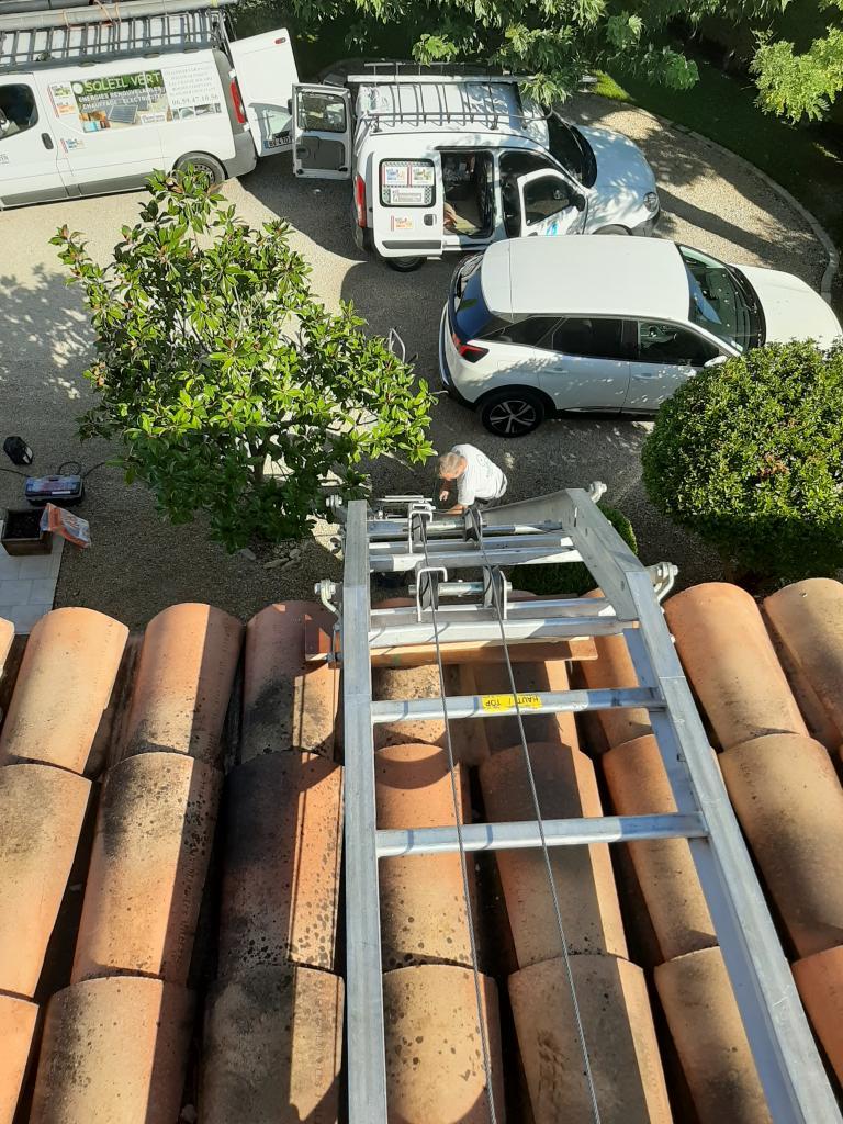 Réalisation d'une installation photovoltaïque en auto-consommation de 3 Kwc-Vaucluse (84)