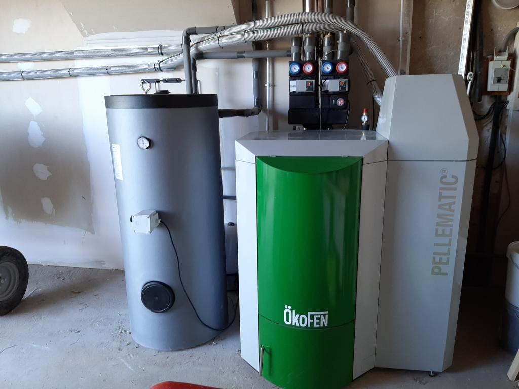 Installation d'une chaudière à granulés OKOFEN en remplacement d'une chaudière gaz propane