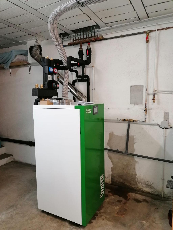 Installation d'une chaudière à granulés ÖkoFEN en remplacement d'une chaudière fioul