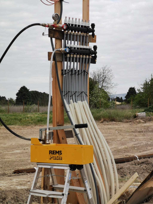 Installation d'un puits rafraichissant hydraulique géothermique Innovert