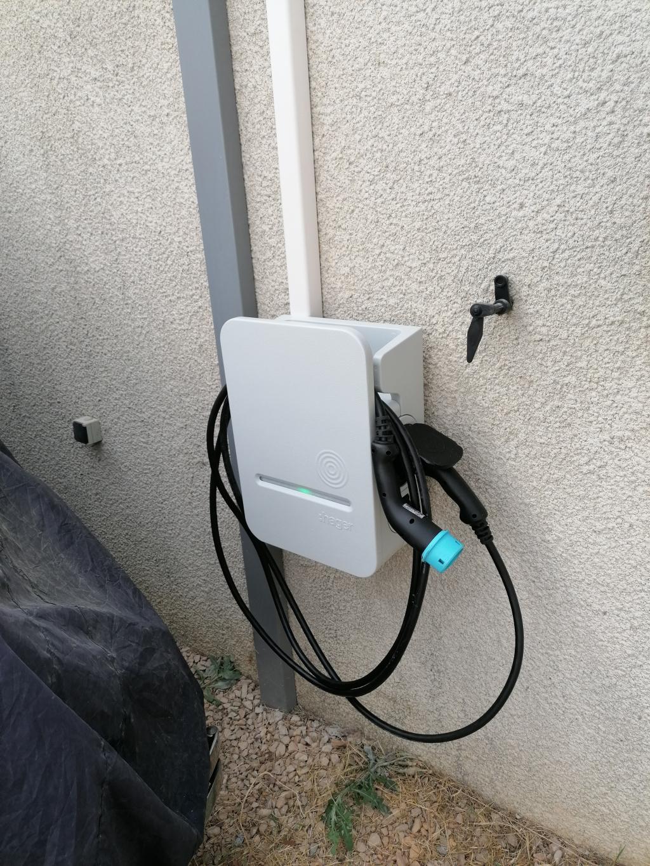 Installation d'une borne de recharge HAGER 7kW pour véhicule électrique