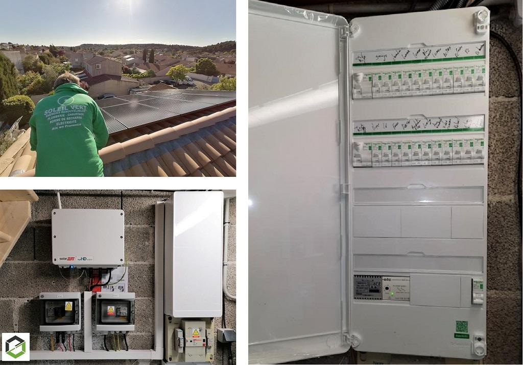 Mise aux normes d'un tableau électrique et installation photovoltaïque-Bouches du Rhône (13)