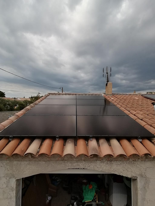 Installation photovoltaïque 3 kWc de 8 panneaux en autoconsommation-Var (83)