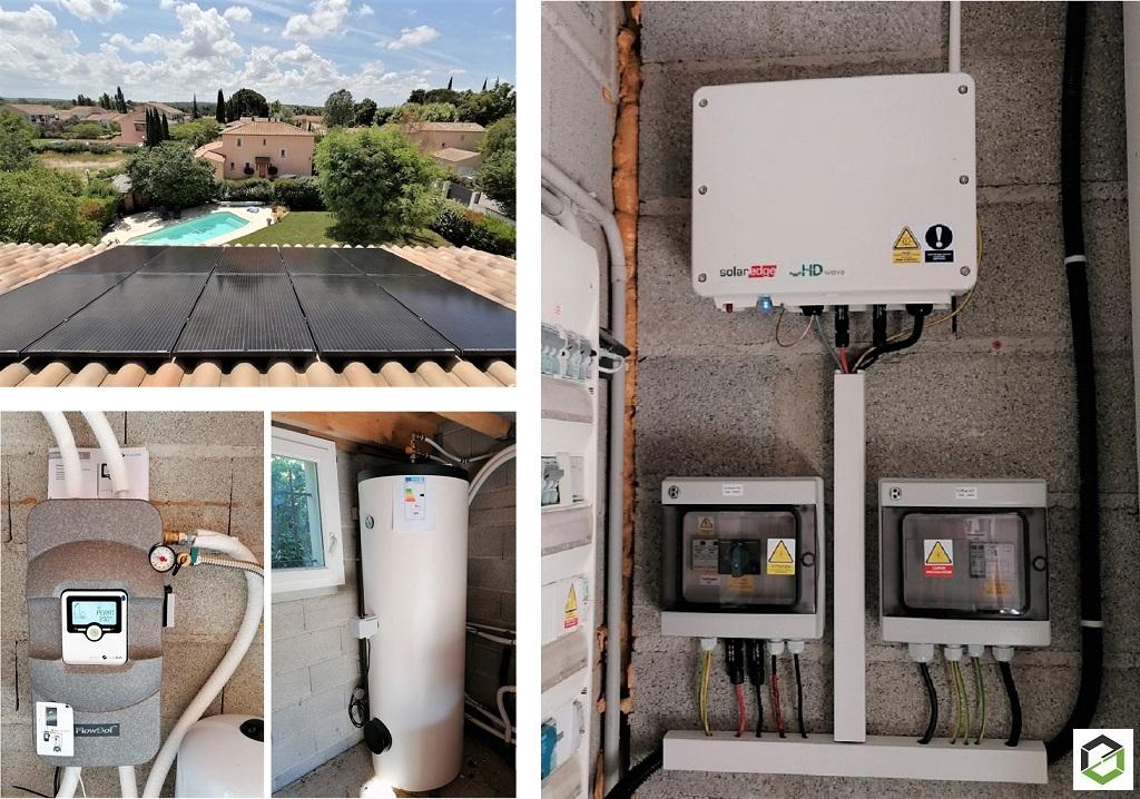 Installation solaire hybride photovoltaïque et thermique