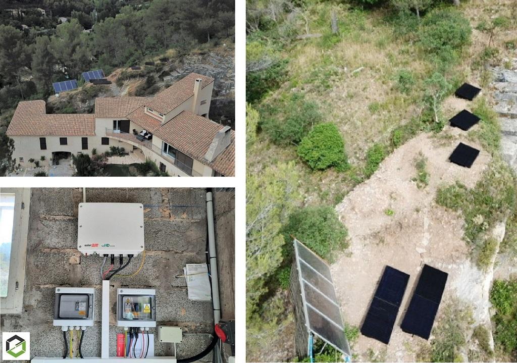 Installation photovoltaïque en autoconsommation dans le jardin-Bouches du Rhône (13)