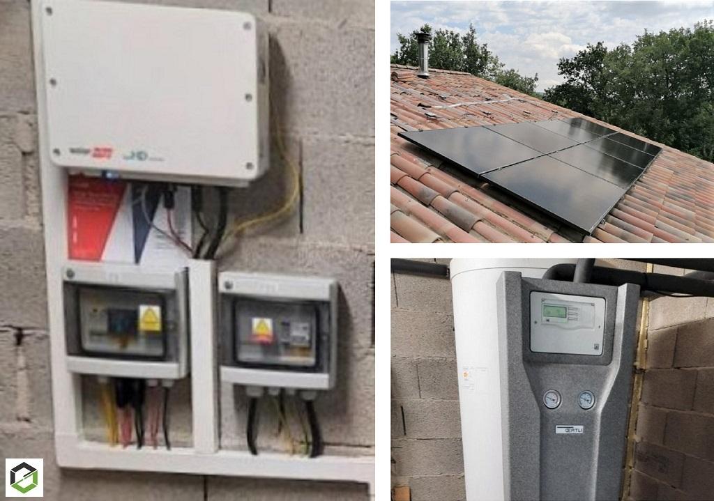 Installation panneau solaire hybride 6kWc en autoconsommation-Vaucluse (84)