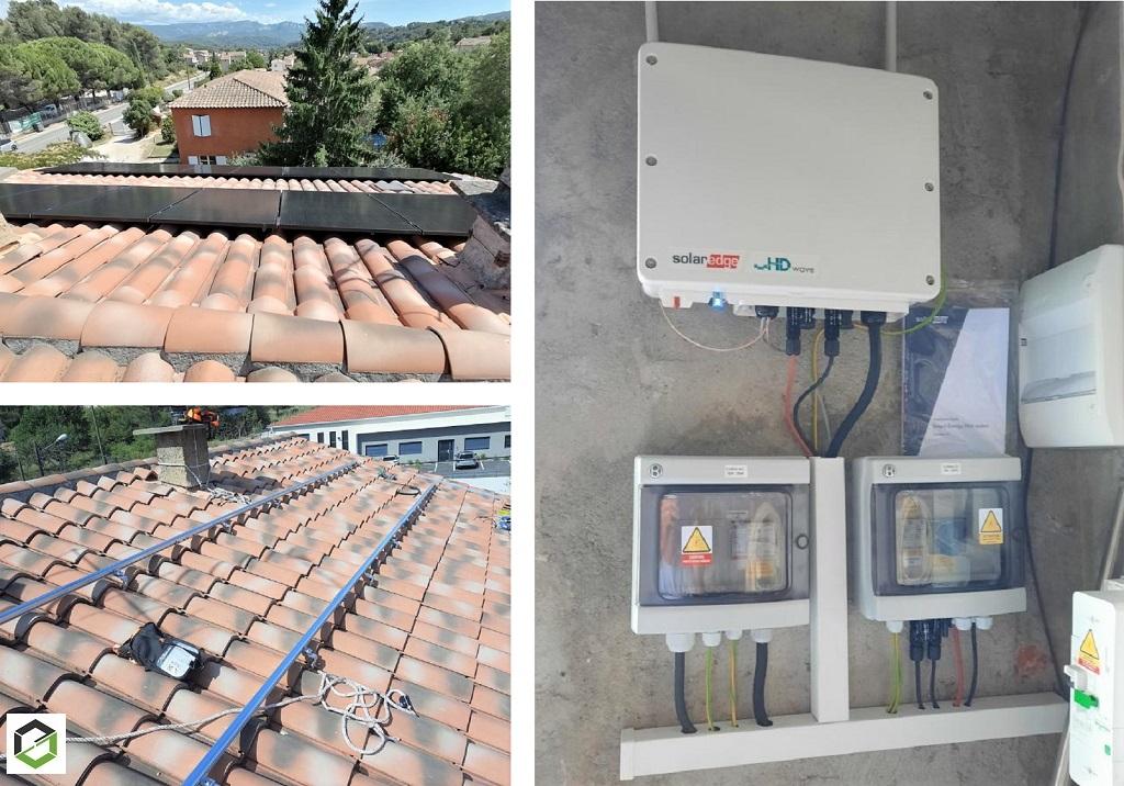Installation photovoltaïque sur-imposée 6000Wc pour autoconsommation-Bouches du Rhône (13)