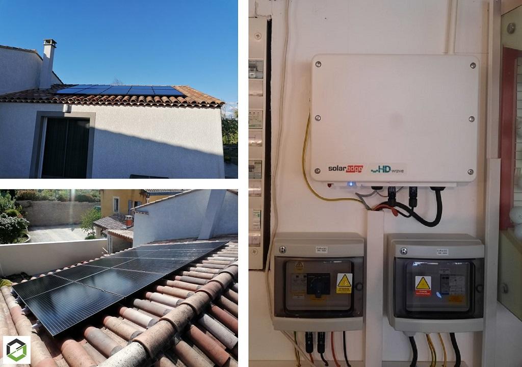 Réalisation d'une installation photovoltaïque en auto-consommation de 3 Kwc-Alpes de Haute Provence (04)