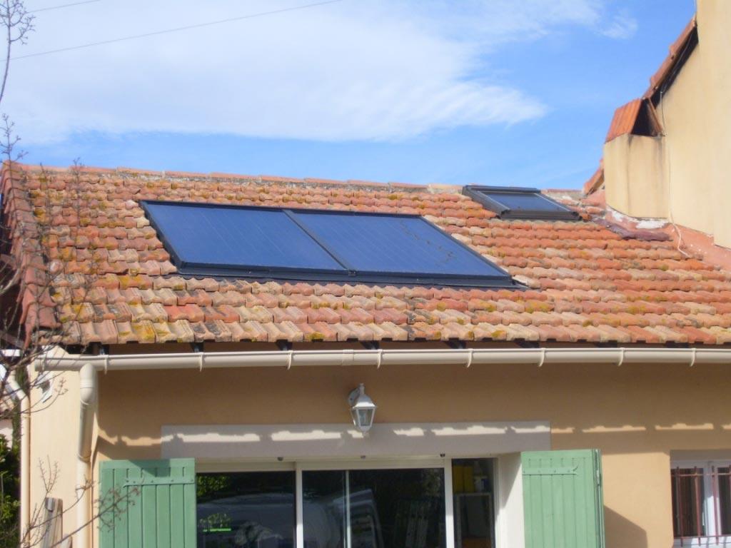 Installation d'un chauffe eau solaire individuel SONNENKRAFT-Bouches du Rhône (13)