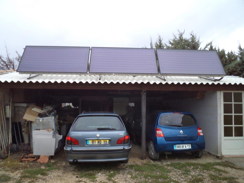 Installation d'une chaudière à granulés (pellet) de la marque OKOFEN et d'un système combiné solaire ATLANTIC-Bouches du Rhône (13)