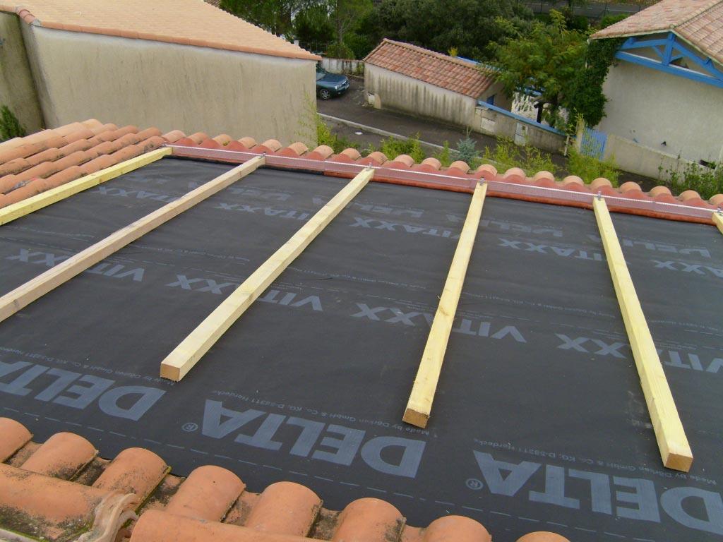 Installation panneaux solaires photovoltaïque intégration au bâti SOLAR FABRIK onduleur SOLARMAX -Hérault (34)