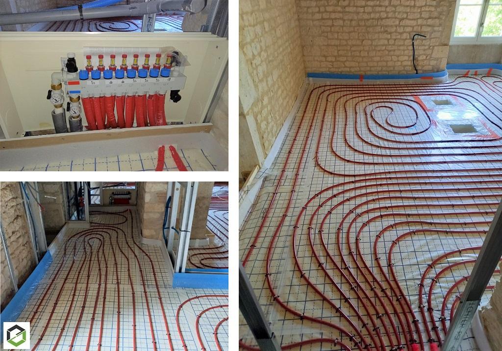 Pose d'un plancher chauffant basse température dans un projet de renovation