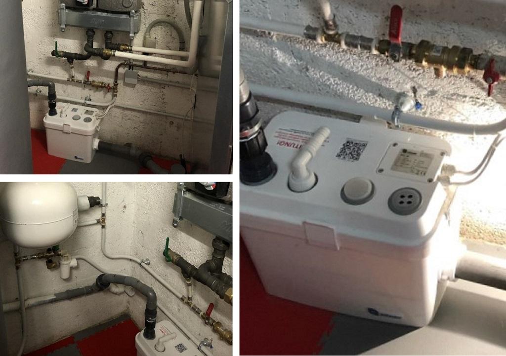 Installation d'une pompe de relevage, ILE DE FRANCE.