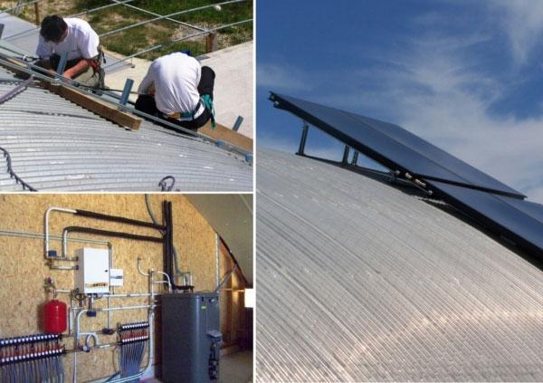 Chauffage solaire Rotex sur plancher chauffant - 30 Gard