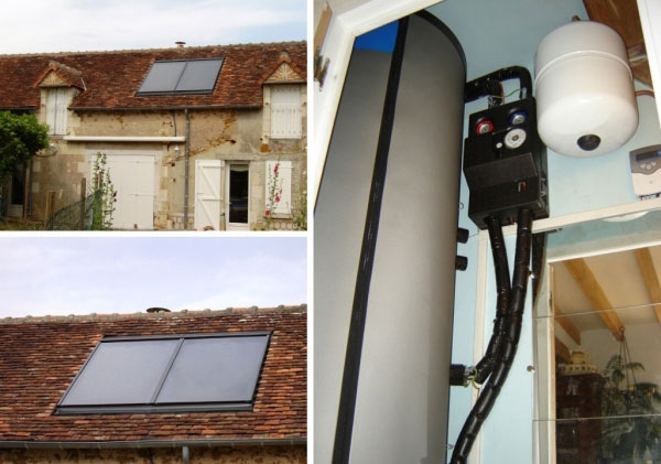 Eau chaude solaire Westfa à Descartes - 37 Indre et Loire