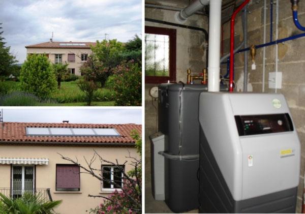 Solariste qualisol - Installateur SCC + chaudière Daikin Rotex à St Victor La Coste - 30 Gard - 84 Vaucluse