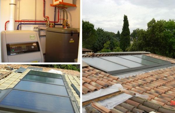 Chauffagiste - Solariste Qualisol Qualifioul RGE  -Système solaire combiné avec chaudière condensation Fioul Rotex à Tavel - 30 Gard - 84 Vaucluse