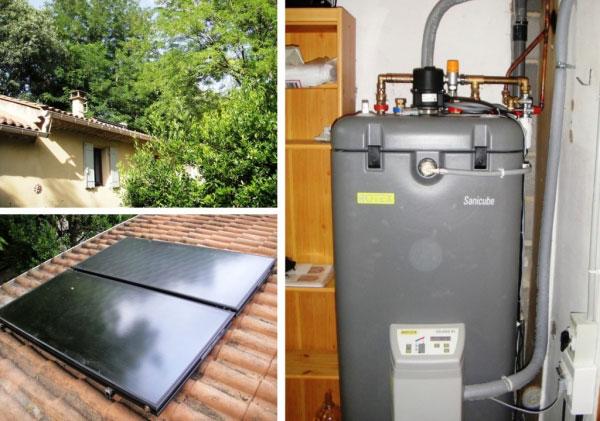 Solariste RGE qualisol -  Installateur chauffe-eau solaire individuel (CESI) Daikin Rotex à Sauveterre - 30 Gard et 84 Vaucluse