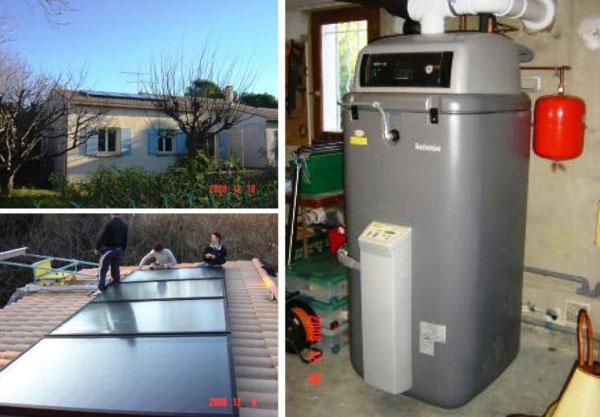 Solariste RGE Qualisol - Qualigaz  PG - Installation combiné solaire avec chaudière condensation Gaz Daikin Rotex Villeneuve Les Avignon - 30 Gard et 84 Vaucluse
